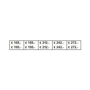 PLANCHE PRIX 168/840 €