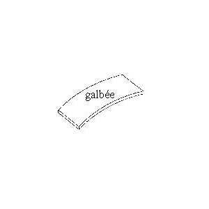 PLAQUE MIN. RECT. GALBEE taille