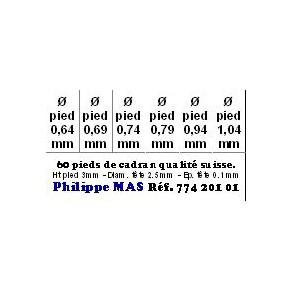 PIED CADRAN ASS. 60Pces
