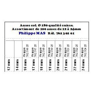 ANSE COL. 180 12/24mm ASS.