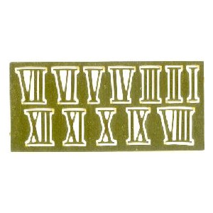 CHIFFRES romains laiton 15mm