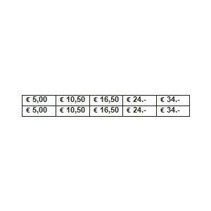 PLANCHE PRIX 5/168 €