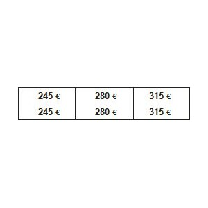 PLANCHE PRIX G.M. 245/595 €