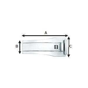 FERMOIR déployant simple 4mm